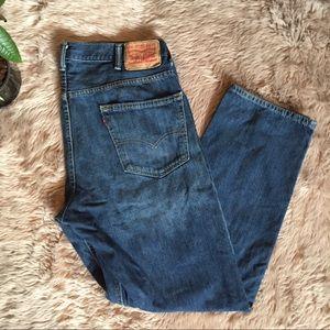 ↟ Levi's Men's 501 Dark Wash Denim Jeans ↟